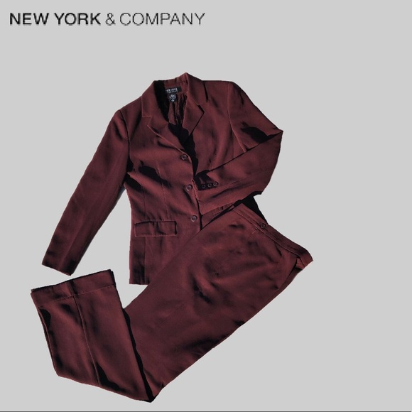 New York & Company Other - Talls Crepe Suit w/ Wide-Legged Cuffed Pants
